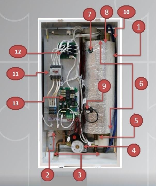Принципиальная схема электрического котла STOUT